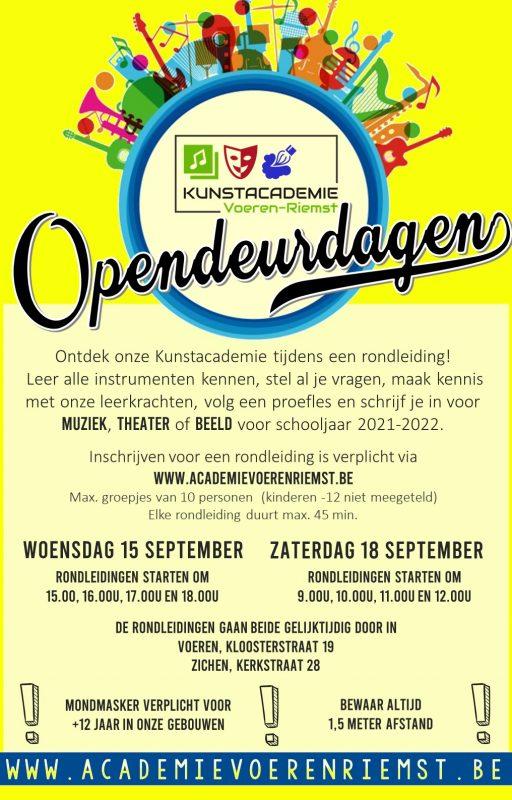Affiche opendeurdag September